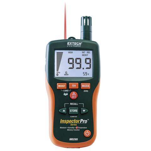 Extech MO295 Pinless Moisture Psychrometer + IR Thermometer