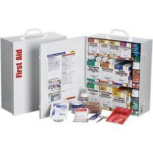 First Aid Only 2470FAOF 3-Shelf, 100 Person, 1,041 Piece First Aid Station