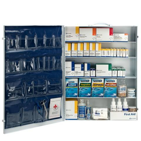 First Aid Only 249OPAC 5-Shelf, 200 Person First Aid Station w/ 22-Pocket Liner