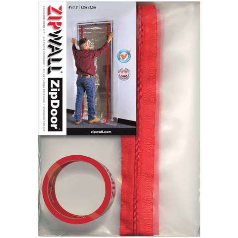 ZipWall® ZDS ZipDoor® Standard Door Kit, 2/Pack
