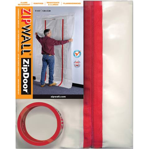ZipWall® ZDC ZipDoor® Commercial Door Kit - 2/Pack