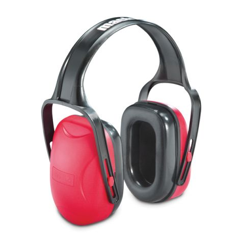 Howard Leight® 1010421HW Mach™ 1 Noise Blocking Earmuffs, NRR 18 Red/Black