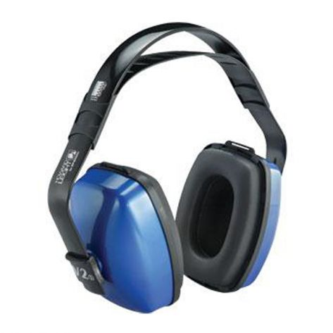 Howard Leight® 1010926HW Viking® V2 Noise Blocking Earmuffs, NRR 27, Blue/Black