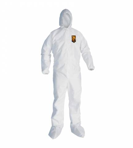 KleenGuard™ 49123 A20 Breathable Particle Protection Coveralls, L, 24/Case