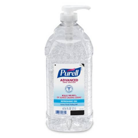 Purell® 962504GJ Instant Hand Sanitizers - 2 Lit Economy Size Pump Bottle, 4/Case