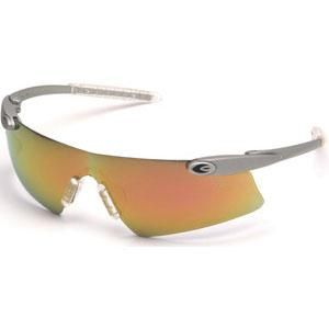 MCR DES14RC Desperado™ Safety Glasses (Silver Frame, Fire Mirror Lens)