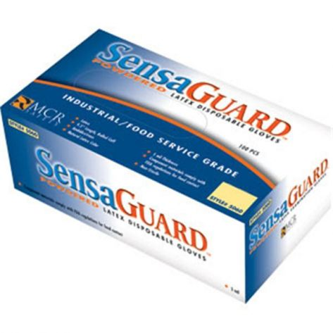 MCR 5060LMG SensaGuard™ Disposable Latex Gloves, Powdered, 5 mil, L