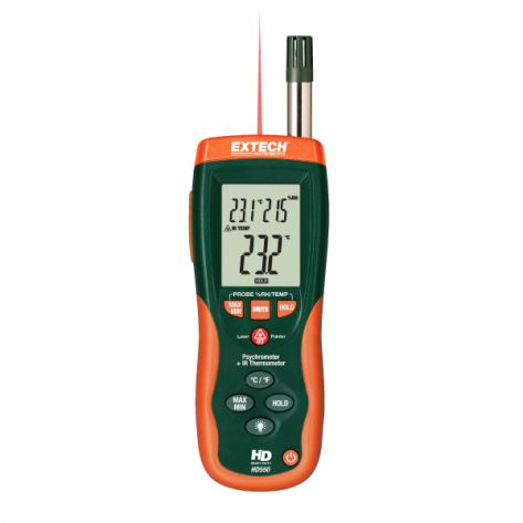 Extech/Flir HD550 Psychrometer + IR Thermometer with GPP