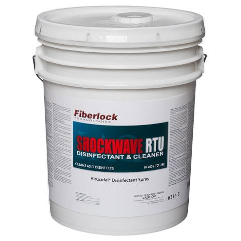 Fiberlock 8316-5 Shockwave Disinfectant/Sanitizer (RTU) - 5 Gal