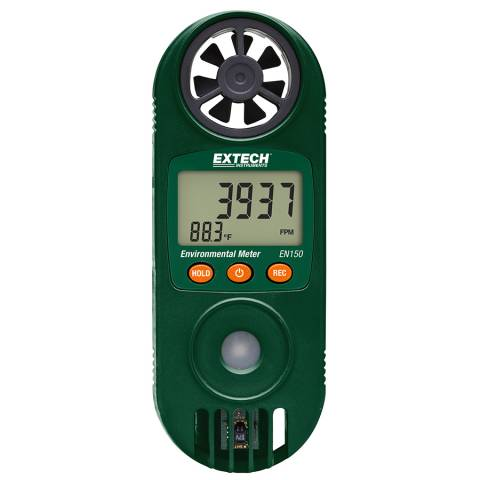 Extech EN150 Compact Hygro-Thermo-Anemometer with UV Light Sensor