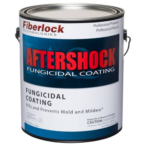 Fiberlock AfterShock EPA Registered Fungicidal Coating - 1 Gal, 4/Case - White