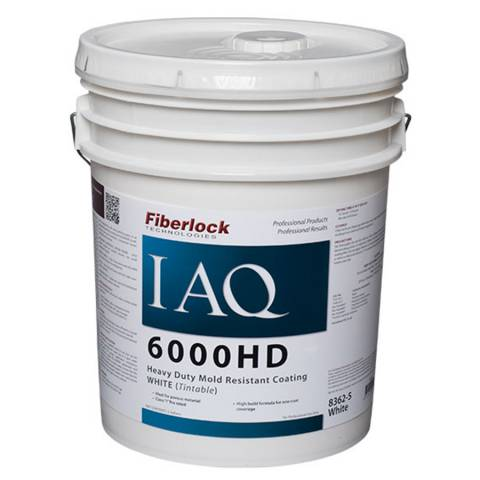 Fiberlock IAQ 6000HD - Heavy Duty Mold Resistant Coating - 5 Gal - White