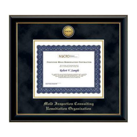 Church Hill Classics 138351 Gold Engraved Medallion Certificate Frame in Onyx Gold with Black Suede and Gold Mats