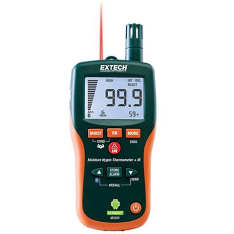 Extech MO300 Pinless Moisture Meter with Bluetooth™