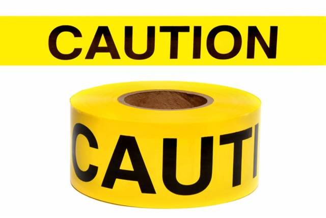 NMC PT1RT-3 CAUTION Repulpable Barricade Tape