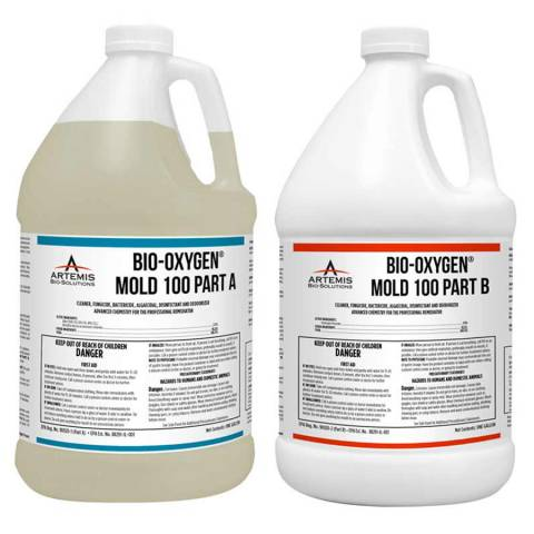 Artemis Bio-Solutions ABOMG4 Bio-Oxygen® Mold 100 - One Gallon Jugs, 2A/2B