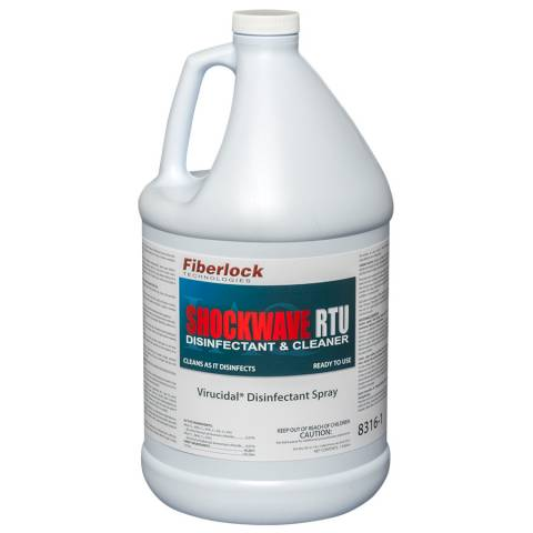 Fiberlock 8316CA-1-C4 Shockwave Disinfectant/Sanitizer  (RTU) - CA - 1gal (4/Case)