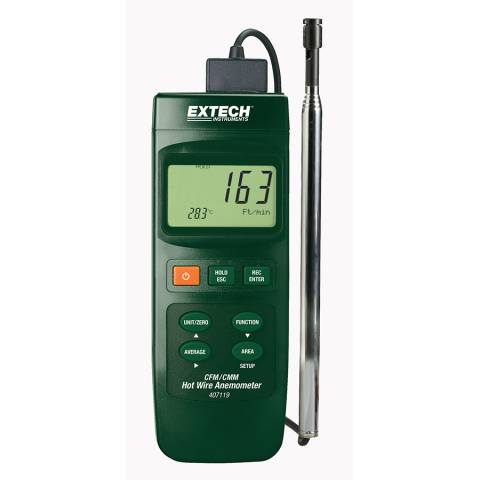 Extech 407119-NIST Heavy Duty CFM Hot Wire Thermo-Anemometer