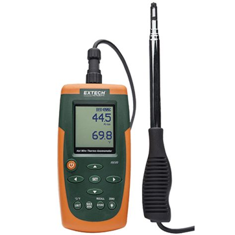 Extech AN500-NIST Hot Wire CFM/CMM Thermo-Anemometer