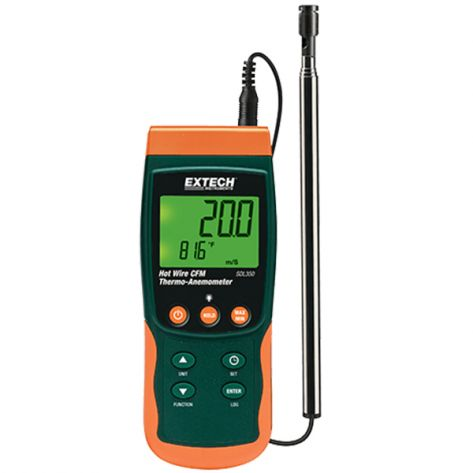 Extech SDL350-NIST Hot Wire CFM Thermo-Anemometer/Datalogger