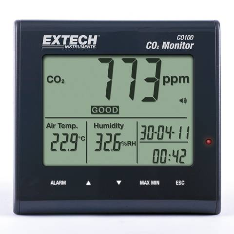 Extech CO100 Desktop Indoor Air Quality CO2 Monitor