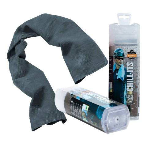 Ergodyne® 12438EG 6602 Chill-Its® Evaporative Cooling Towel - Gray