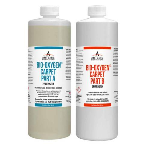 Artemis Bio-Solutions ABOCQ4 Bio-Oxygen® Carpet - 4 One Quart Bottles 2A/2B.