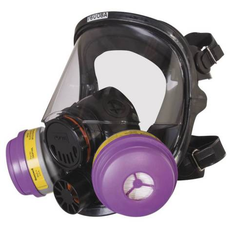 Honeywell North 068-760008A Series Silicone Full Facepiece Respirators, Regular
