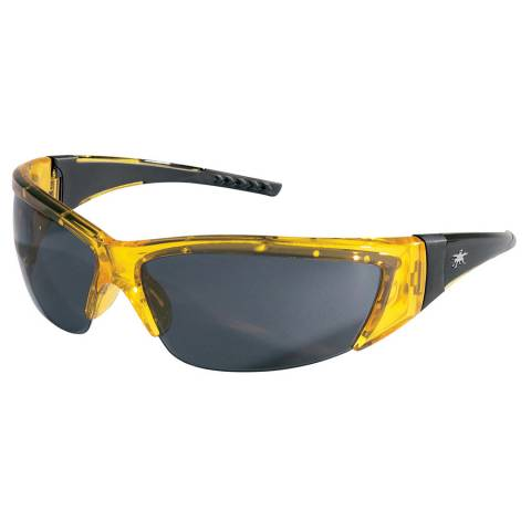 MCR FF232 ForceFlex® - Translucent Yellow Frame, Gray Lens