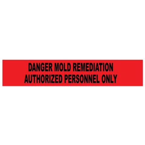 "NMC PT7-2ML Mold Remediation Authorized Personnel Only 2 Mil Tape, 3"" x 1000'"