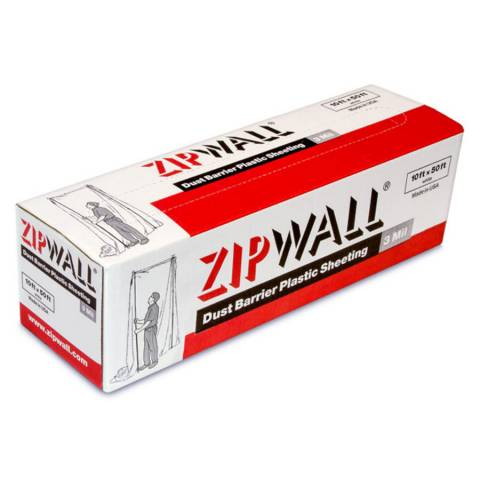 ZipWall® PY50 Dust Barrier Plastic Sheeting - 6/Pack