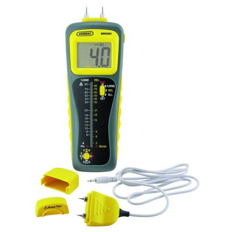 General Tools MMD900 Pin/Pinless Deep Sensing Moisture Meter w/Remote Probe