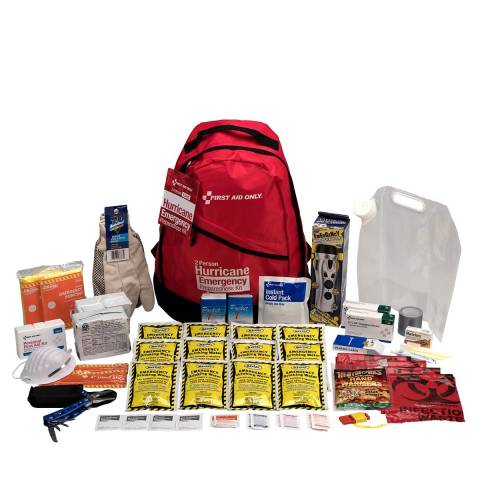 First Aid Only 91055 2 Person Emergency Preparedness Hurricane Backpack