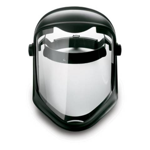 Honeywell S8515 Uvex® Bionic Shield Face Shield w/ Hard Hat Adapter (No Suspension), Anti-Fog Hardcoated Visor, 1/Each