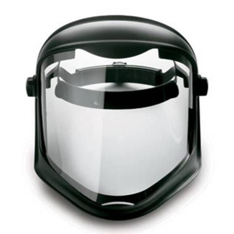 Honeywell S8505 Uvex® Bionic Shield Face Shield w/ Hard Hat Adapter (No Suspension), Uncoated Visor, 1/Each