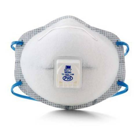 3M™ 8577 Particulate Respirator, P95, with Nuisance Level Organic Vapor Relief - 10/Box