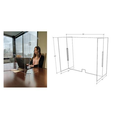 NMC AWSG1 Foldable Work Station Guard, Clear