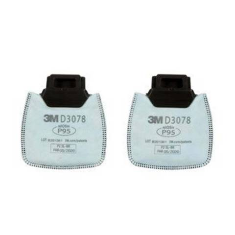 3M™ D3078 Secure Click™ Particulate Filter P95 with Nuisance Level Organic Vapor/Acid Gas