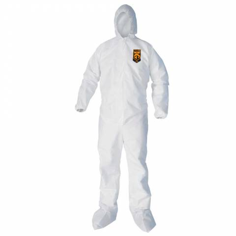KleenGuard™ 44334 A40 Liquid and Particle Protection Coveralls, with Hood & Boots - XL