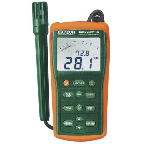 Extech EA20 Easy View Hygro-Thermometer/Datalogger - 90 Readings