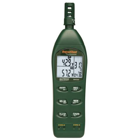 Extech RH350 Dual Input Hygro-Thermometer/Psychrometer