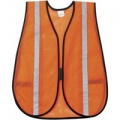 MCR V211SRRC General Purpose Mesh Safety Vest, Orange  w/Silver Stripes