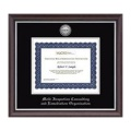 Church Hill Classics 207195 Silver Engraved Medallion Certificate Frame in Devonshire