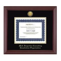 Church Hill Classics 138356 Gold Engraved Medallion Frame in Cambridge with Black and Gold Mats