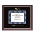 Church Hill Classics 202905 Gold Embossed Certificate Frame in Studio Gold with Black Mat