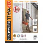 ZipWall® ZipFast™ Reusable Dust Barrier Panels - Flame Retardant