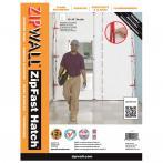 ZipWall® ZFHR ZipFast™ Hatch Panel – Flame Retardant