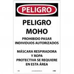 "NMC D995 Danger Microbial Hazard Spanish Paper Sign, 17"" x 11"", Pack of 100"