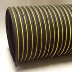 Nikro 860146 Heavy Duty Black & Yellow Flex Duct, 8' x 25', 1/Cs