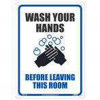 NMC WH1RB Wash Your Hands Sign